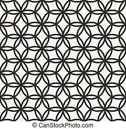 leben blume geometrie muster seamless vektor schwarz heilig wei er kreis leben blume. Black Bedroom Furniture Sets. Home Design Ideas