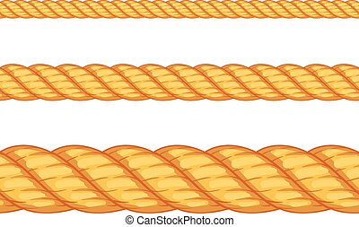 vektor, seamless, illustration, rope.