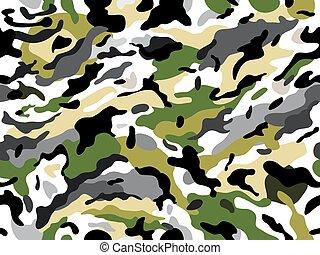 vektor, seamless, kamouflage, print.