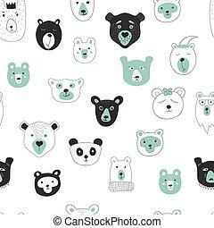 kopf panda brille clipart vektor suchen sie nach. Black Bedroom Furniture Sets. Home Design Ideas