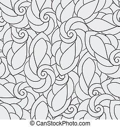 vektor, seamless, muster, mit, spiralen