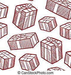 vektor, seamless, tehetség, karácsony