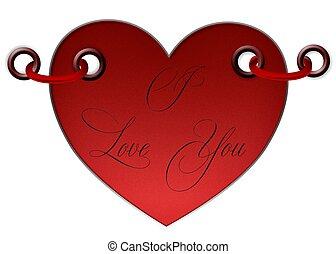Vektor, Sie, Liebe, Herz, - vektor, sie, liebe, herz