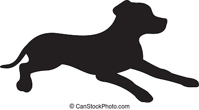 vektor, silhouette, hund
