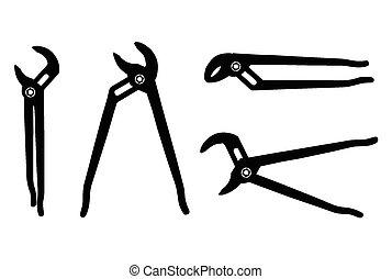 vektor, skřipec, ilustrace