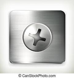 vektor, skruva, ikon