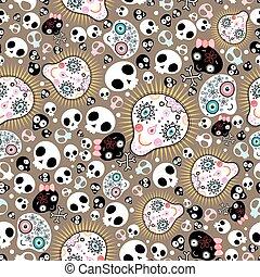 vektor skull patterned