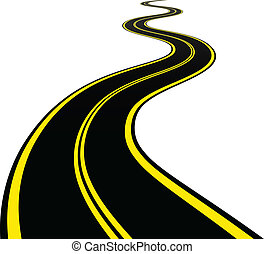 vektor, slingrig road