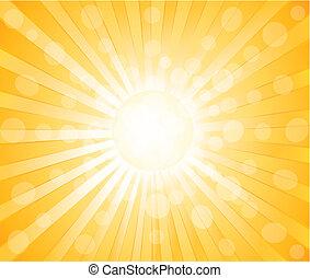 vektor, sluneční, grafické pozadí