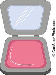 vektor, smink, vit, bakgrund., illustration