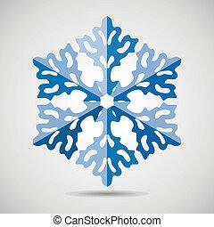 vektor, snöflinga