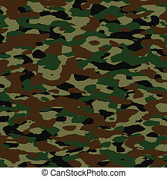 vektor, sommer, camouflage, mønster