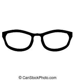 vektor, sonnenbrille, brille