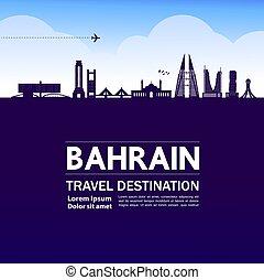 vektor, spielraum- bestimmungsort, illustration., bahrain, ...
