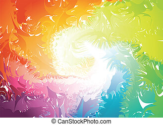 vektor, splats, färgrik, silhouette.