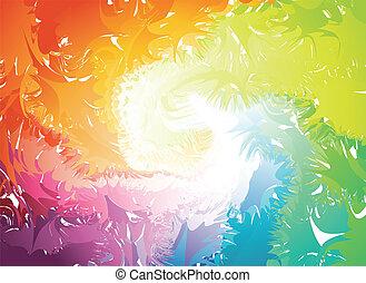 vektor, splats, farverig, silhouette.