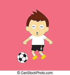 vektor, sport, karikatúra