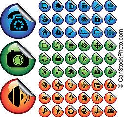 vektor, stickers