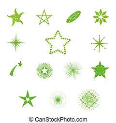vektor, stjärnor