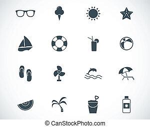 vektor, svart, sätta, sport, ikonen