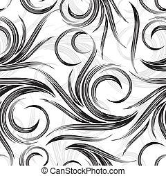 vektor, swirly, grafické pozadí