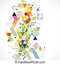 vektor, színes, elvont, ábra, kreatív, háttér, geometriai
