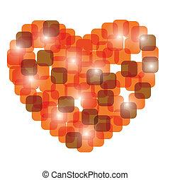 vektor, szív, piros, Ábra, kedves