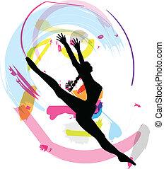 vektor, táncol., ábra