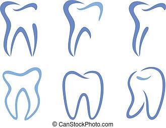 vektor, tänder