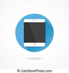 vektor, tablette, ikone