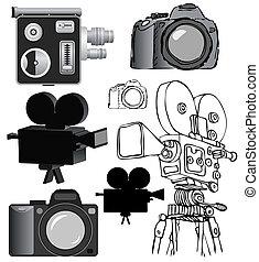 vektor, teknik, fotografisk