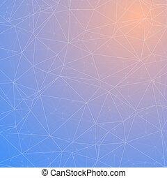 vektor, teknologi, wireframe, bakgrund