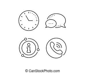 vektor, telefon, zentrieren, rufen, service, unterstuetzung,...