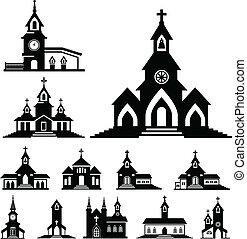 vektor, templom
