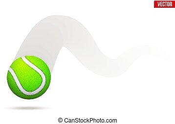 vektor, tennisball, bewegen, abbildung