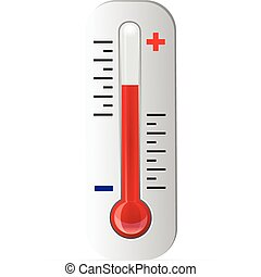 vektor, termometer