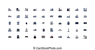 vektor, tervezés, ikon, iparág, elszigetelt, olaj, állhatatos