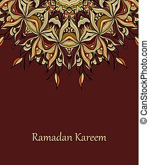vektor, tervezés, ramadan, kareem