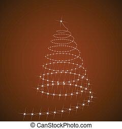 vektor, träd, jul