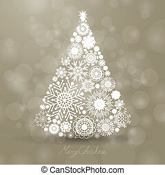 vektor, træ, jul