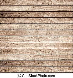 vektor, træ, planke, baggrund
