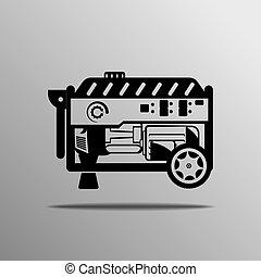 vektor, transportabel generator