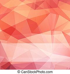 vektor, trekant, baggrund, abstrakt, mesh