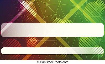 vektor, trianglar, illustration., affär, utrymme, lutning, text, illustration, färg, fodra, cirkel, style., smart, design.