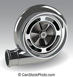 vektor, turboladdare, kompressor