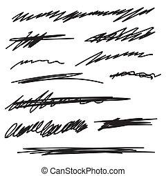 vektor, underline., dát