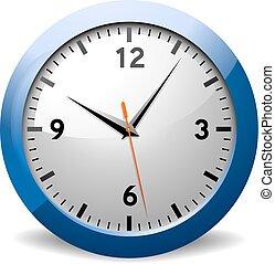 vektor, ur, kontor, klassisk