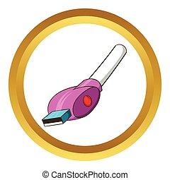 vektor, usb kabel, ikone