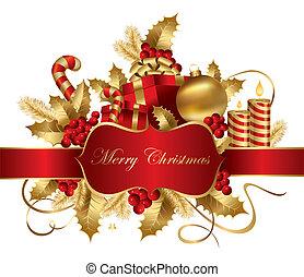 vektor, vánoce, ilustrace