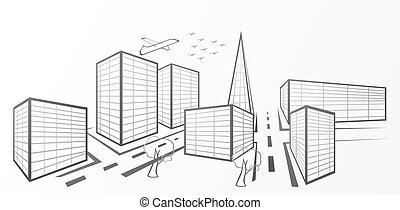 vektor, város